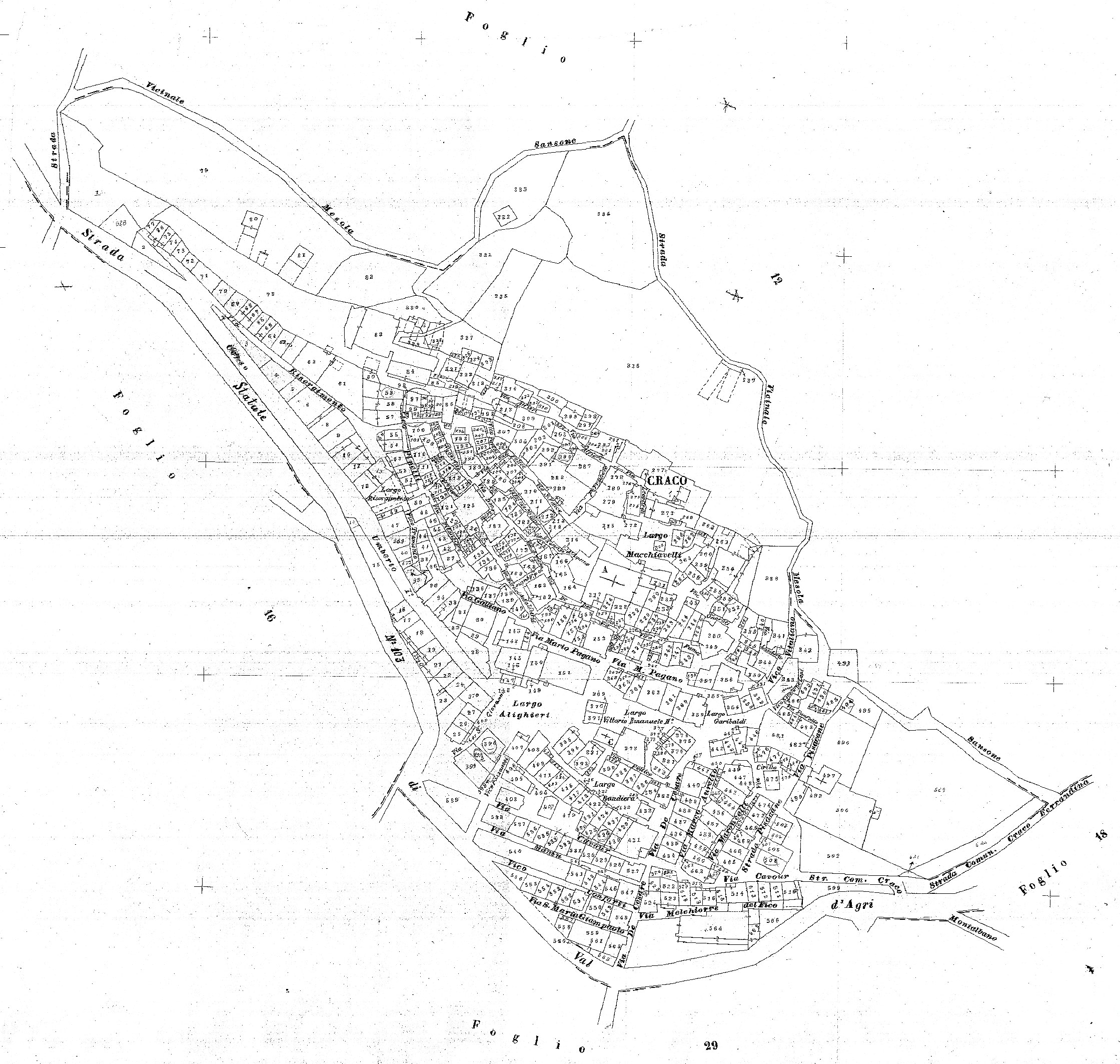 Map of Craco